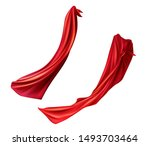 red cloaks set. silk flattering ... | Shutterstock .eps vector #1493703464