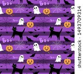 seamless vector pattern.... | Shutterstock .eps vector #1493709314