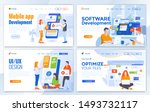 set of landing page design... | Shutterstock .eps vector #1493732117