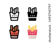 french fries logo icon design...