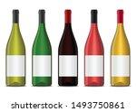 set of vector realistic 3d wine ...   Shutterstock .eps vector #1493750861