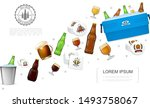realistic brewery colorful... | Shutterstock .eps vector #1493758067