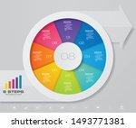 modern 8 steps pie chart ... | Shutterstock .eps vector #1493771381