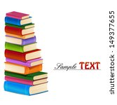 stack of colorful books. | Shutterstock .eps vector #149377655