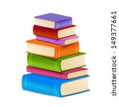 stack of colorful books... | Shutterstock .eps vector #149377661
