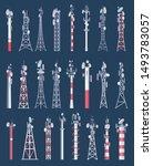 wireless tower. cellular wifi... | Shutterstock .eps vector #1493783057