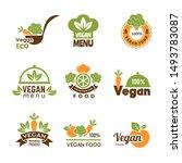 vegan logo. healthy food...   Shutterstock .eps vector #1493783087