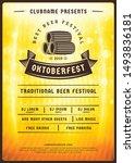 oktoberfest beer festival... | Shutterstock .eps vector #1493836181