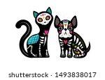 day of the dead  dia de los... | Shutterstock .eps vector #1493838017