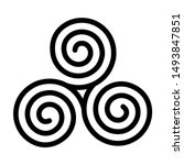 triskelion symbol icon. breton... | Shutterstock .eps vector #1493847851