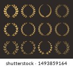 a large set of various laurel...   Shutterstock .eps vector #1493859164