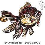 black gold fish  | Shutterstock .eps vector #149385971