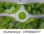 Top Down Aerial Drone View Of A ...