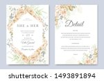 wedding invitation card with...   Shutterstock .eps vector #1493891894