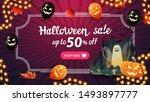 halloween sale  up to 50  off.... | Shutterstock .eps vector #1493897777