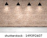 blank brick wall with place for ... | Shutterstock . vector #149392607