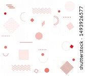 memphis design. geometric...   Shutterstock .eps vector #1493926577