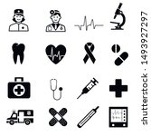 medical icons. sign in flat... | Shutterstock .eps vector #1493927297