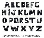 alphabet in scandinavian style. ... | Shutterstock .eps vector #1493950307