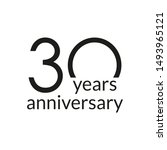 30 years anniversary... | Shutterstock . vector #1493965121
