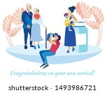 husband and wife with children...   Shutterstock .eps vector #1493986721
