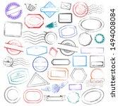 stamps frames vector... | Shutterstock .eps vector #1494008084