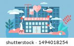 hospital vector illustration.... | Shutterstock .eps vector #1494018254