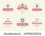 christmas vector typography... | Shutterstock .eps vector #1494019631