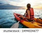 Couple Kayaking Together....