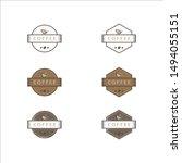 coffee emblem logo template pack | Shutterstock .eps vector #1494055151