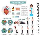 heart disease infographic heart ...   Shutterstock .eps vector #1494074384