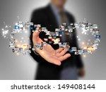 businessman holding business...   Shutterstock . vector #149408144