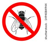 no fly sign. insecticide symbol.... | Shutterstock .eps vector #1494084944