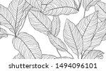 foliage seamless pattern ... | Shutterstock .eps vector #1494096101
