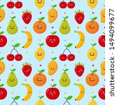 seamless pattern cartoon... | Shutterstock .eps vector #1494099677