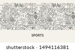 sports banner concept. vector... | Shutterstock .eps vector #1494116381