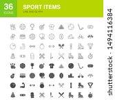 sport items line web glyph... | Shutterstock .eps vector #1494116384