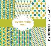 retro geometric pattern design. ... | Shutterstock .eps vector #149412449