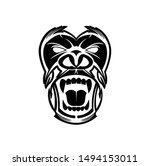 gorilla logo and ape vector... | Shutterstock .eps vector #1494153011