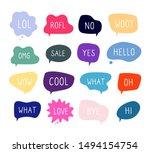 bubble talk phrases. online... | Shutterstock .eps vector #1494154754