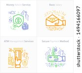 banking and finance icon set  ... | Shutterstock .eps vector #1494166097