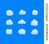 cloud signs. sky symbols. cloud ...