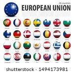 european union eu 3d circle... | Shutterstock .eps vector #1494173981