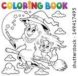 coloring book halloween image 1 ... | Shutterstock .eps vector #149417495