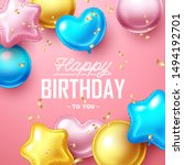happy birthday background with... | Shutterstock .eps vector #1494192701