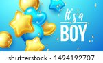 it's a boy  baby shower... | Shutterstock .eps vector #1494192707
