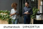two diverse professional... | Shutterstock . vector #1494209714