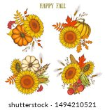 autumn bouquets collection... | Shutterstock .eps vector #1494210521