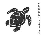 turtle glyph icon. slow moving... | Shutterstock .eps vector #1494213257