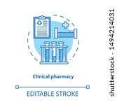 clinical pharmacy concept icon. ...   Shutterstock .eps vector #1494214031